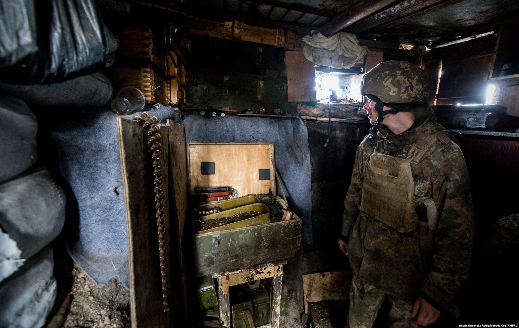 Морпіх на бойовій позиції поблизу Водяного
