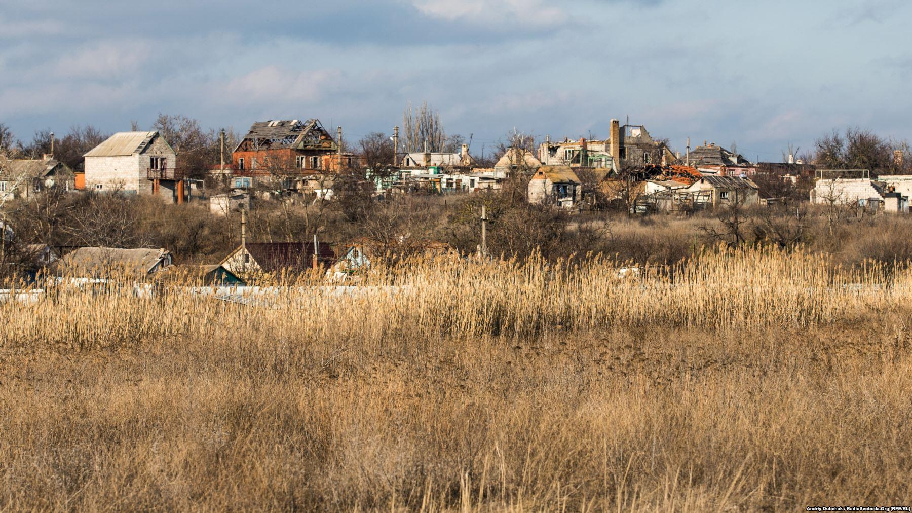 Панорамний вигляд на «верхню» частину Широкина (вигляд з узбережжя)