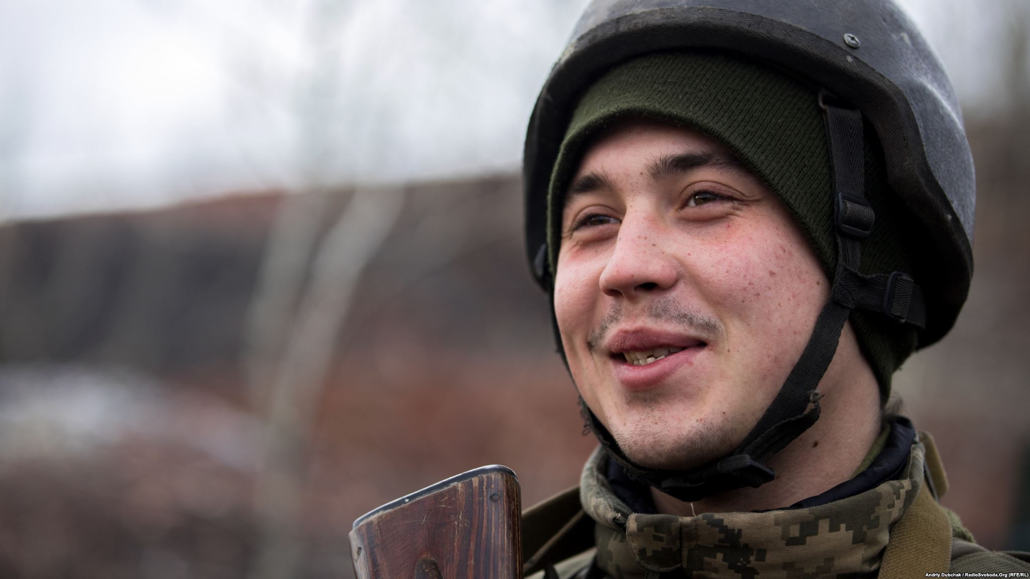 Always smiling Olexander from Kherson, 20 years old (photo by photographer Andriy Dubchak)